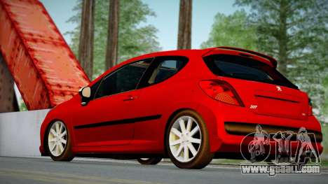 Peugeot 207 for GTA San Andreas left view