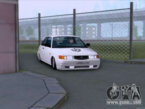 LADA 2112 low clearance for GTA San Andreas back view