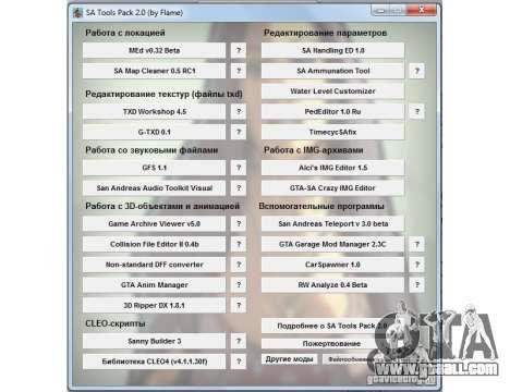 Collection programs for GTA San Andreas