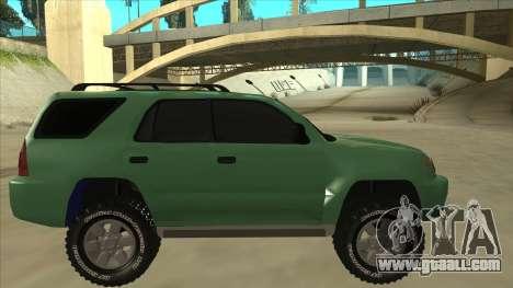 Toyota 4Runner 2009 v2 for GTA San Andreas back left view