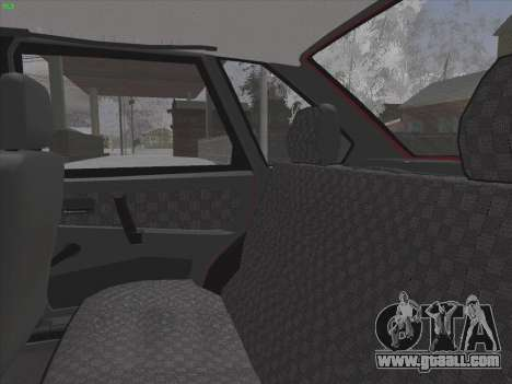 VAZ 2109 for GTA San Andreas interior