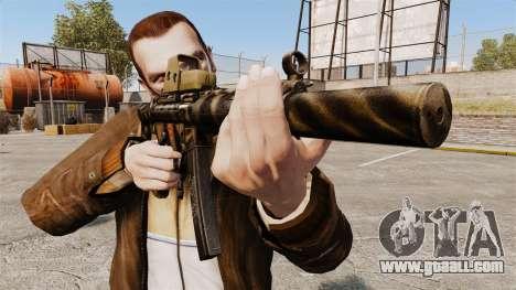 MP5SD submachine gun v3 for GTA 4 third screenshot