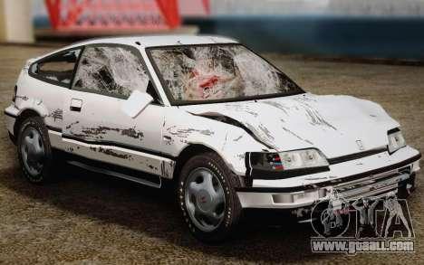 Honda CR-X 1991 for GTA San Andreas upper view