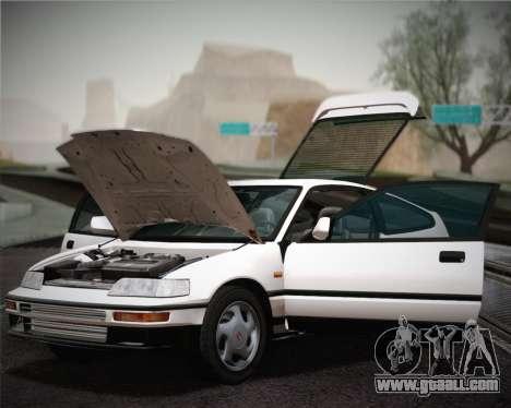 Honda CR-X 1991 for GTA San Andreas inner view