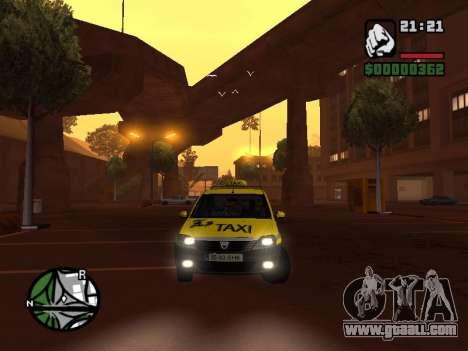 Dacia Logan 2008 LS Taxi for GTA San Andreas