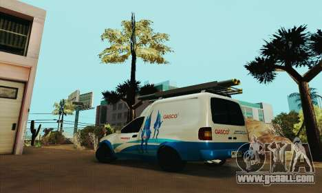 Chevrolet Combo Gasco for GTA San Andreas left view