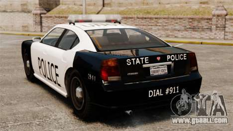 Buffalo police officer LAPD v1 for GTA 4 back left view