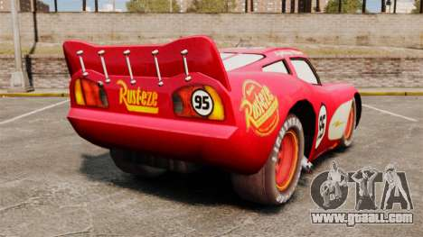 Lightning McQueen v1.2 for GTA 4 back left view