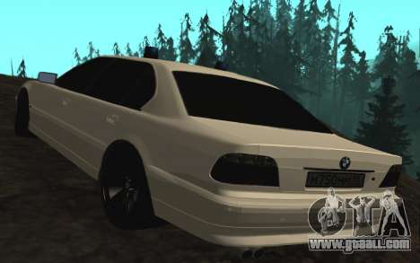 BMW 750iL E38 with flashing lights for GTA San Andreas back left view