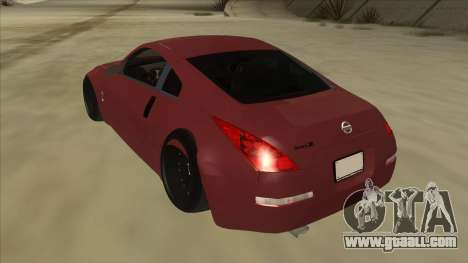 Nissan 350Z JDM for GTA San Andreas back view