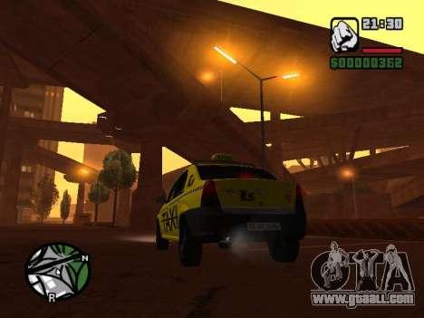 Dacia Logan 2008 LS Taxi for GTA San Andreas left view