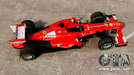 Ferrari F138 2013 v3 for GTA 4 right view