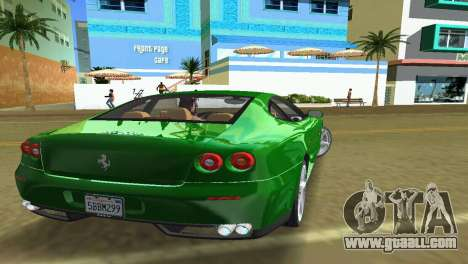 Ferrari 612 Scaglietti 2005 for GTA Vice City back left view