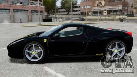 Ferrari 458 Italia 2010 Wheelsandmore 2013 for GTA 4 left view