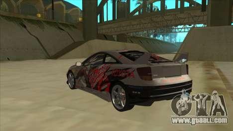Toyota Celica ZZT231 Itasha for GTA San Andreas back view