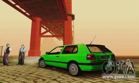 Volkswagen Golf Mk3 GTi 1997 for GTA San Andreas right view
