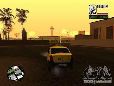 Dacia Logan 2008 LS Taxi for GTA San Andreas back left view