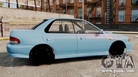 Subaru Impreza WRX STI 5 Domestic Drifter 1999 for GTA 4 left view