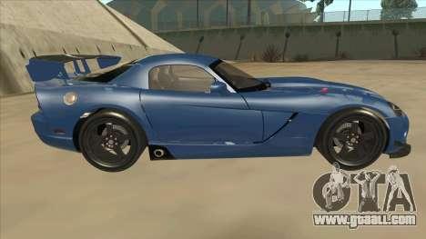 Dodge Viper SRT-10 ACR TT Black Revel for GTA San Andreas back left view