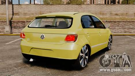 Volkswagen Gol G6 for GTA 4 back left view