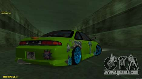 Nissan Silvia S14 CIAY for GTA San Andreas back view