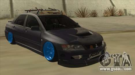Mitsubishi Evo VIII MR JDM for GTA San Andreas left view