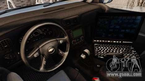 Chevrolet Trailblazer 2002 Massachusetts Police for GTA 4 back view