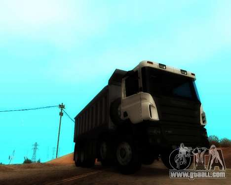 Scania P420 8X4 Dump Truck for GTA San Andreas right view