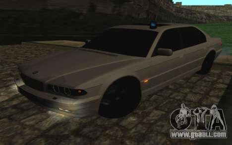 BMW 750iL E38 with flashing lights for GTA San Andreas inner view