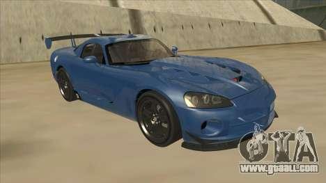 Dodge Viper SRT-10 ACR TT Black Revel for GTA San Andreas left view