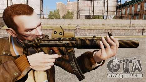 MP5SD submachine gun v3 for GTA 4
