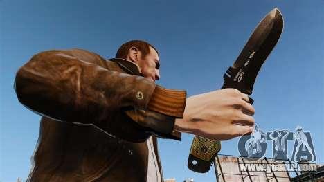Tactical knife v4 for GTA 4 third screenshot