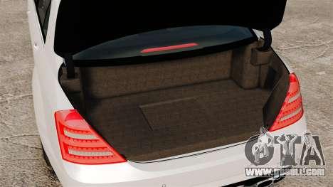 Mercedes-Benz S65 W221 AMG Stock v1.2 for GTA 4 inner view