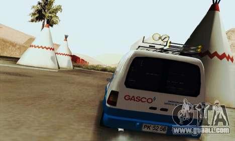 Chevrolet Combo Gasco for GTA San Andreas right view
