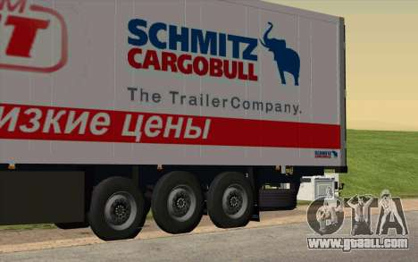 Trailer For MAN TGX for GTA San Andreas left view