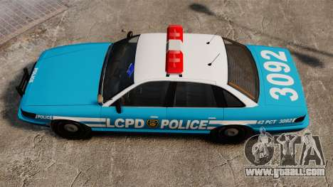 LCPD Police Cruiser for GTA 4 right view
