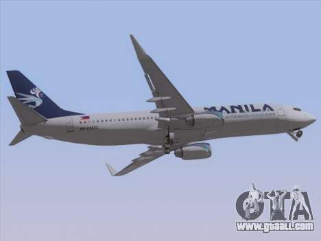 Boeing 737-800 Spirit of Manila Airlines for GTA San Andreas inner view
