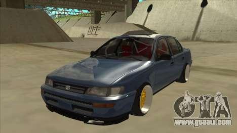 Toyota Corolla 1.6 1997 Hellaflush for GTA San Andreas