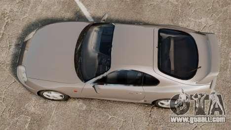 Toyota Supra MKIV 1995 v3.5 for GTA 4 right view