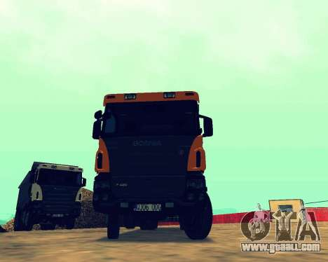 Scania P420 8X4 Dump Truck for GTA San Andreas back view
