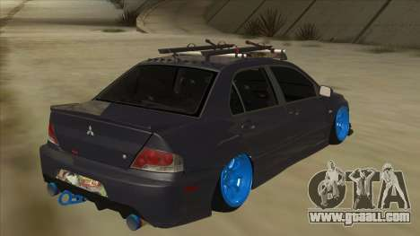 Mitsubishi Evo VIII MR JDM for GTA San Andreas right view