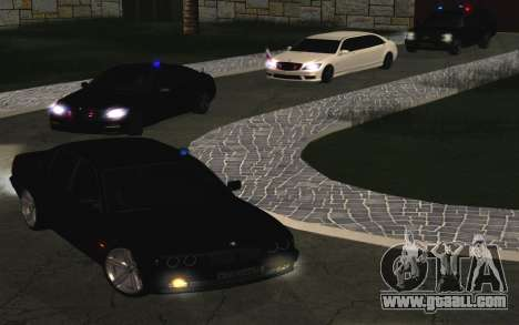 BMW 750iL E38 with flashing lights for GTA San Andreas back view