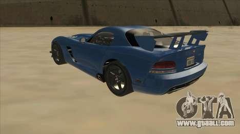 Dodge Viper SRT-10 ACR TT Black Revel for GTA San Andreas back view