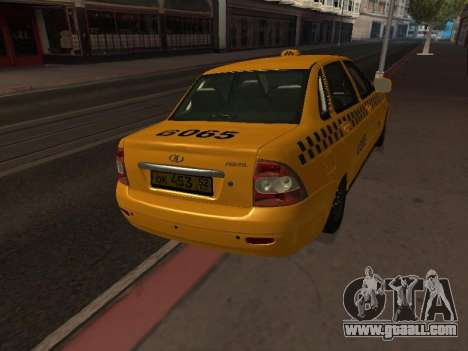 LADA 2170 Priora Taxi for GTA San Andreas