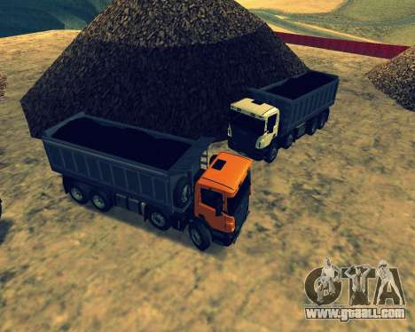 Scania P420 8X4 Dump Truck for GTA San Andreas bottom view