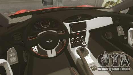 Subaru BRZ Rocket Bunny Aero Kit Hoonigan for GTA 4 inner view