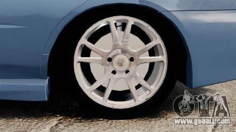 Subaru Impreza WRX 2001 for GTA 4 back view