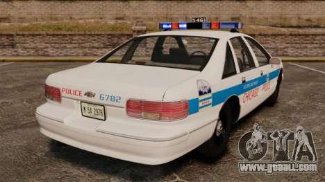 Chevrolet Caprice 1994 [ELS] for GTA 4 back left view