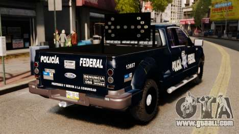 Ford F-150 De La Policia Federal [ELS & EPM] v2 for GTA 4 back left view