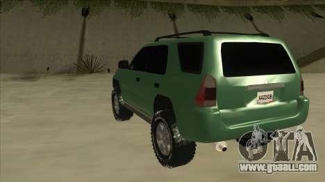 Toyota 4Runner 2009 v2 for GTA San Andreas back view